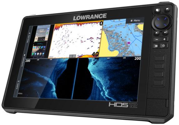 Lowrance HDS 12 Live разделение экрана