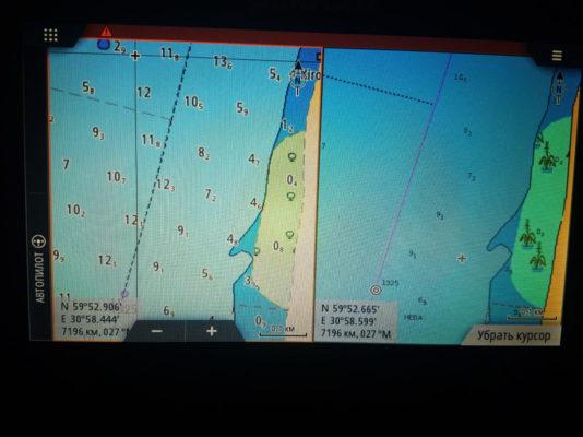 Плотность глубин Navionics или С-Map